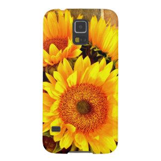 美しいヒマワリの花束のギフト GALAXY S5 ケース
