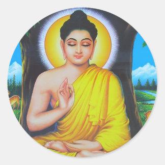 美しいヒンズー教の神および女神 ラウンドシール