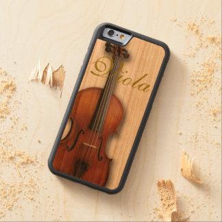 美しいビオラの電話箱 CarvedチェリーiPhone 6バンパーケース