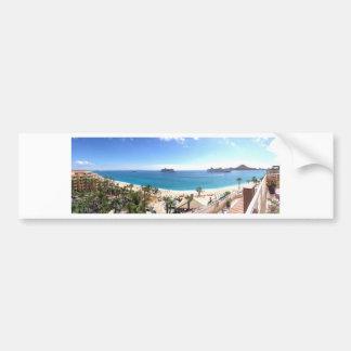 美しいビーチのパノラマ バンパーステッカー