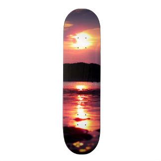 美しいビーチの日の出 21.6CM オールドスクールスケートボードデッキ