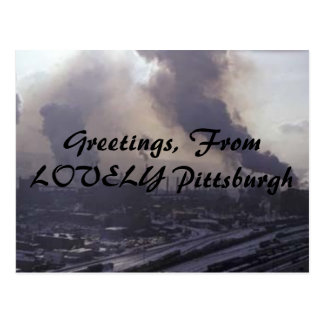美しいピッツバーグからの挨拶、 ポストカード