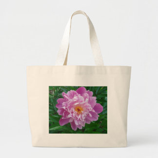 美しいピンクおよび薄紫の花 ラージトートバッグ