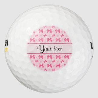 美しいピンクのサテンの弓 ゴルフボール