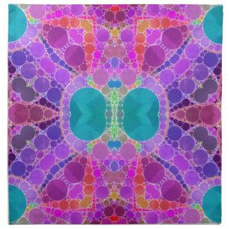 美しいピンクのターコイズの抽象芸術 ナプキンクロス