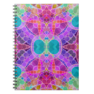 美しいピンクのターコイズの抽象芸術 ノートブック