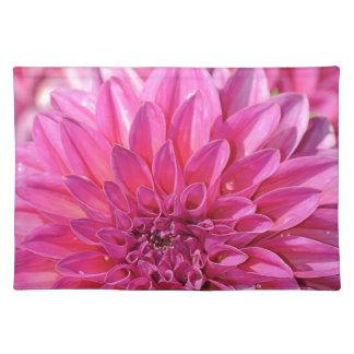 美しいピンクのダリアの花の花 ランチョンマット
