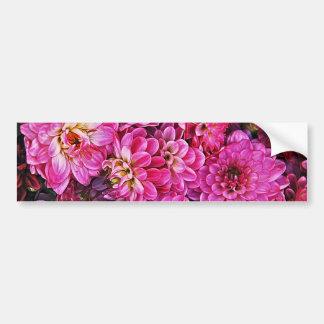 美しいピンクのダリア バンパーステッカー