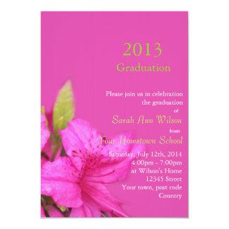美しいピンクのツツジによっては卒業のinvitatioが開花します カード