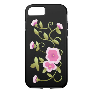 美しいピンクの中国のな花のファインアート iPhone 8/7ケース