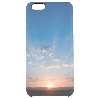 美しいピンクの夜明けの薄暗がりの空の写真のヒップスター旅行 クリア iPhone 6 PLUSケース