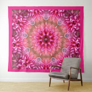 美しいピンクの曼荼羅 タペストリー