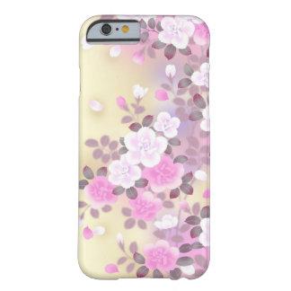 美しいピンクの白い花のベクトル芸術 BARELY THERE iPhone 6 ケース
