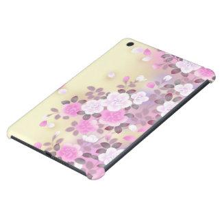 美しいピンクの白い花のベクトル芸術 iPad MINI RETINAケース