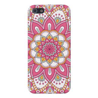 美しいピンクの花のデザイン iPhone SE/5/5sケース