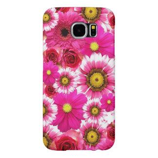 美しいピンクの花のデザイン SAMSUNG GALAXY S6 ケース