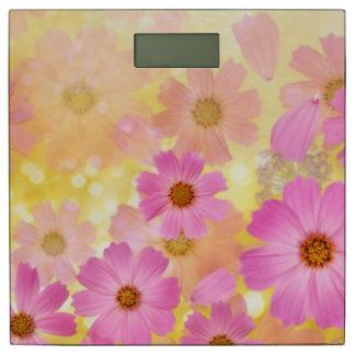 美しいピンクの花のベクトル芸術 体重計