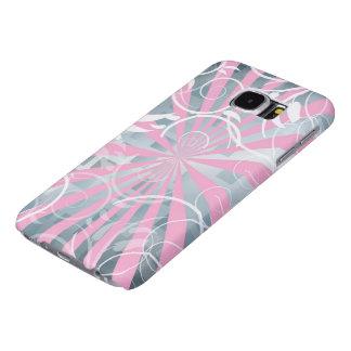 美しいピンクの銀製の花の抽象的なベクトル芸術 SAMSUNG GALAXY S6 ケース