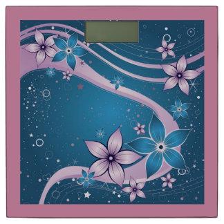 美しいピンクの青い花のベクトル芸術 体重計