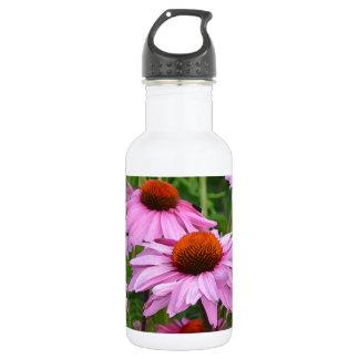 美しいピンクのechinaceaの花柄 ウォーターボトル