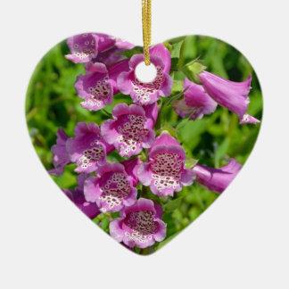 美しいピンクのfoxgloveの花 セラミックオーナメント
