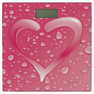 美しいピンク愛ハートのベクトル芸術 体重計