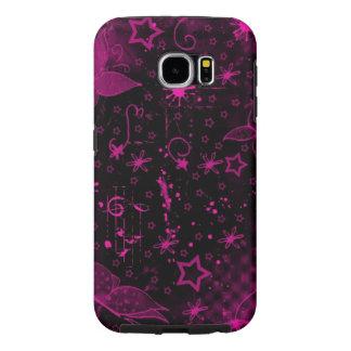 美しいピンク愛ハートの渦巻の芸術 SAMSUNG GALAXY S6 ケース