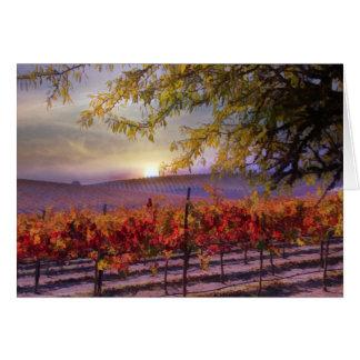 美しいブドウ園のハッピーバースデー グリーティングカード
