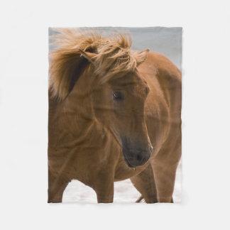 美しいブラウンの馬のフリースブランケット フリースブランケット
