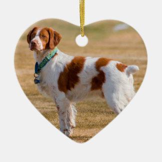 美しいブリッタニースパニエル犬犬 セラミックオーナメント