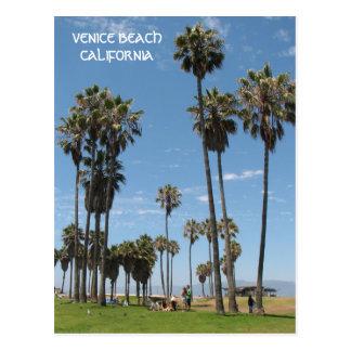 美しいベニスのビーチの郵便はがき! ポストカード
