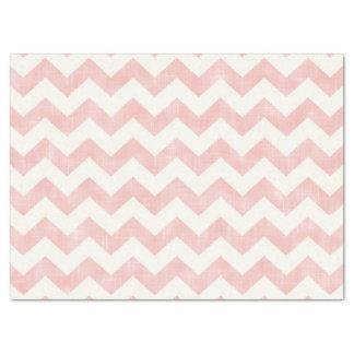 美しいベビーの淡いピンクのシェブロンのジグザグパターン 薄葉紙