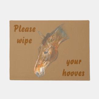 美しいベルギー人のWarmbloodの馬のイメージ ドアマット