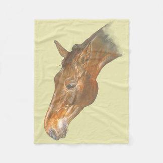 美しいベルギー人のWarmbloodの馬のイメージ フリースブランケット