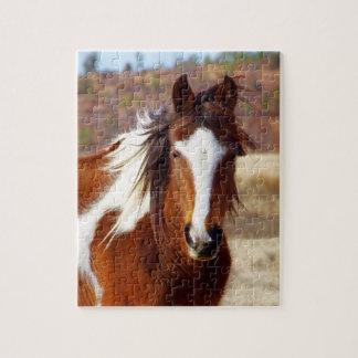 美しいペンキの馬のパズル ジグソーパズル