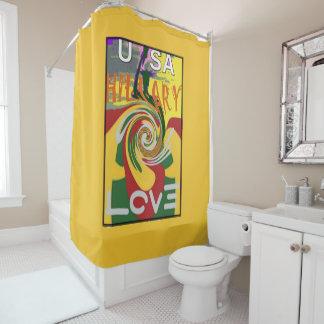 美しいラスタはヒラリー米国をより強い一緒に着色します シャワーカーテン