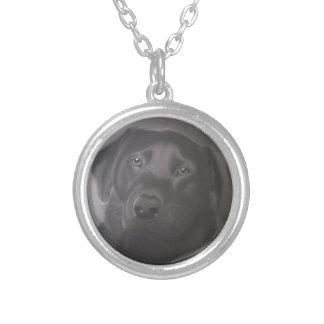 美しいラブラドル・レトリーバー犬 シルバープレートネックレス