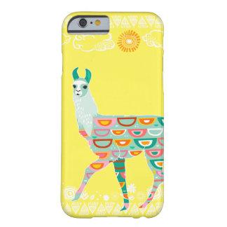 美しいラマ-緑 BARELY THERE iPhone 6 ケース