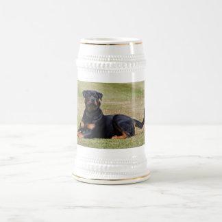美しいロットワイラー犬ビールジョッキ、ギフトのアイディア ビールジョッキ