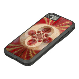 美しいヴィンテージの写実的な革クリケットボール Case-Mate TOUGH EXTREME iPhone 8/7ケース