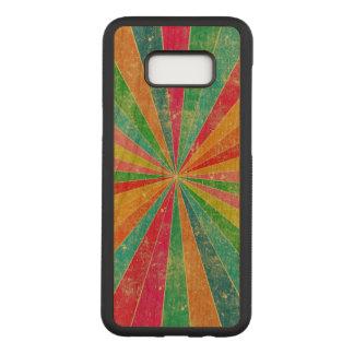 美しいヴィンテージの多彩な虹の芸術 CARVED SAMSUNG GALAXY S8+ ケース