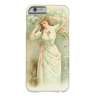 美しいヴィンテージの女の子のパステル調の花及びピンクのバラ BARELY THERE iPhone 6 ケース