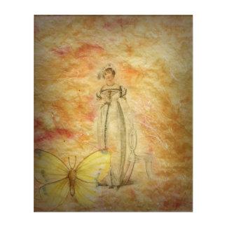 美しいヴィンテージの女性の蝶 アクリルウォールアート