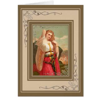 美しいヴィンテージの女性 カード