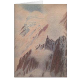 美しいヴィンテージの山景色の景色のアルピニズム カード