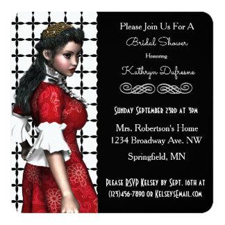 美しいヴィンテージの未婚のブライダルシャワーの招待 カード