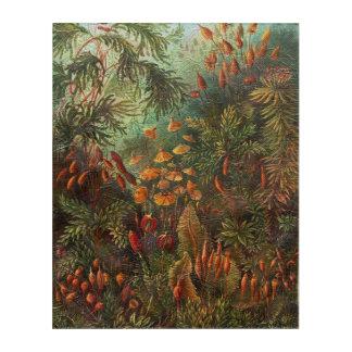 美しいヴィンテージの花柄場面 アクリルウォールアート
