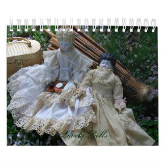 美しい人形のカレンダー カレンダー