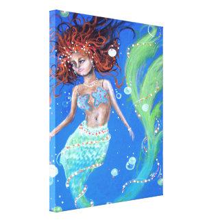 美しい人魚のキャンバスのプリント キャンバスプリント
