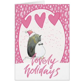 美しい休日 かわいいPinguinのクリスマス カード